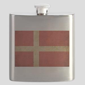 Vintage Denmark Flag Flask