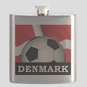 Denmark Football Flask