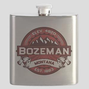 Bozeman Logo Red Flask