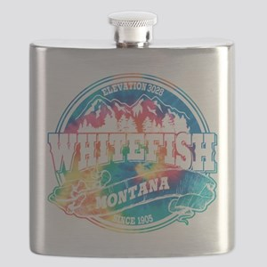 Whitefish Old Circle Black Flask
