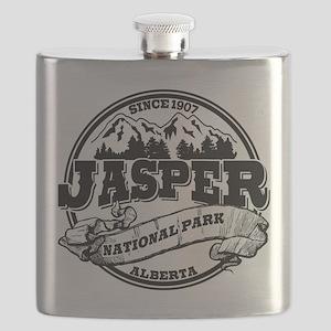 Jasper Old Circle Black Flask