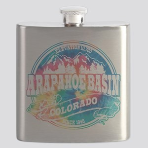 Arapahoe Basin Old Circle Black Flask