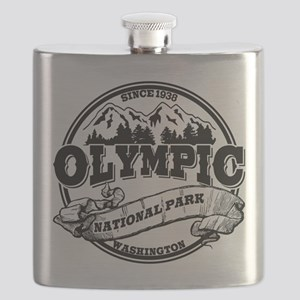 Olympic Old Circle White Flask