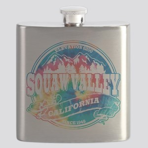 Squaw Valley Old Circle Black Flask