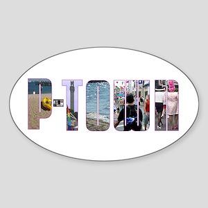 Provincetown Oval Sticker