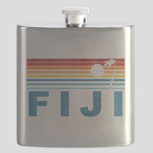 Retro Fiji Palm Tree Flask