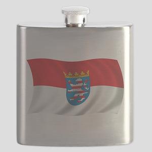 Wavy Hesse Flag Flask