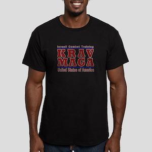 Krav Maga USA Men's Fitted T-Shirt (dark)