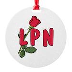 LPN Rose Round Ornament