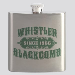 Whistler Blackcomb Old Green Flask
