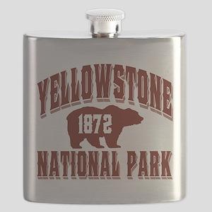 Yellowstone Old Style Vermillion Flask