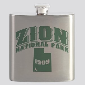 Zion Old Style Green Flask
