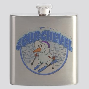 Courchevel Snowman Flask