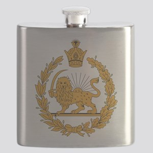 Persia Coat Of Arms Flask