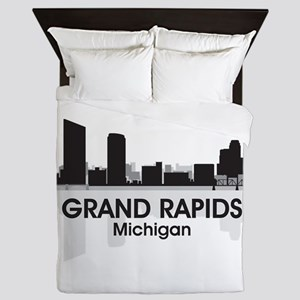 Grand Rapids Skyline Queen Duvet
