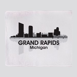 Grand Rapids Skyline Throw Blanket