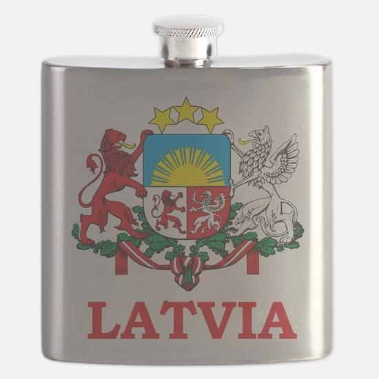 Latvia Flask