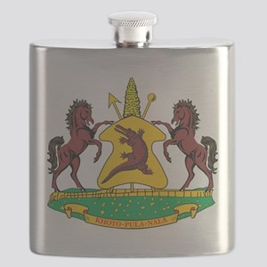 Lesotho Coat Of Arms Flask