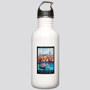 France Travel Poster 4 Stainless Water Bottle 1.0L