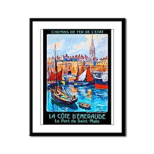France Travel Poster 4 Framed Panel Print