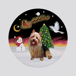 NightFlight-Australian Terrier Ornament (Round)