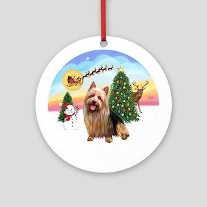 TakeOff-AussieTerrier Ornament (Round)