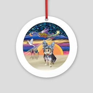 XmasAngel-AussieTerrier(#2)Ornament (Round)