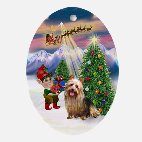 Take Off - Australian Terrier Ornament (Oval)