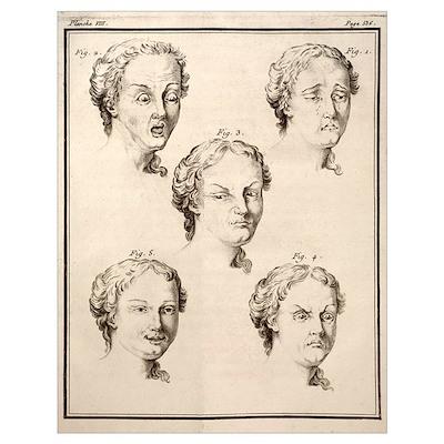 1749 Human emotions and expression Buffon Poster