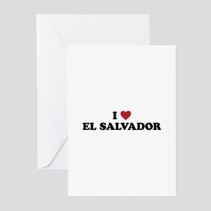 I Love El Salvador Greeting Cards (Pk of 20)