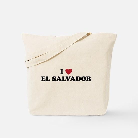 I Love El Salvador Tote Bag