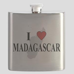 I Love Madagascar Flask