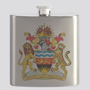 Malawi Coat Of Arms Flask
