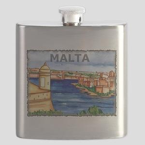 Vintage Malta Art Flask