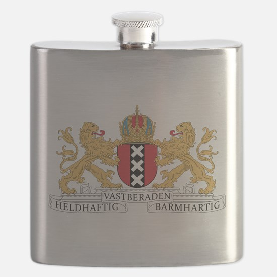 Amsterdam Coat Of Arms Flask