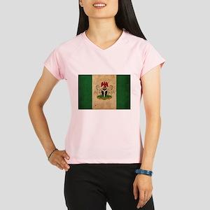 Vintage Nigeria Flag Performance Dry T-Shirt