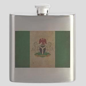Vintage Nigeria Flag Flask