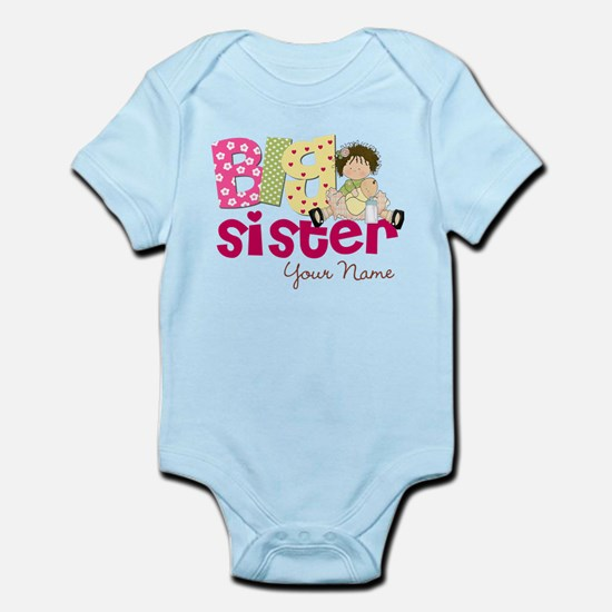 Big Sister Brunette Infant Bodysuit