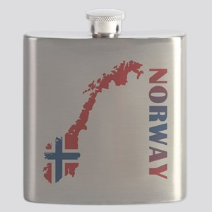 Map Of Norway Flask