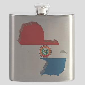 3D Paraguay Map Flask