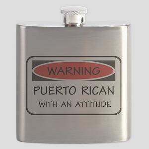 Attitude Puerto Rican Flask