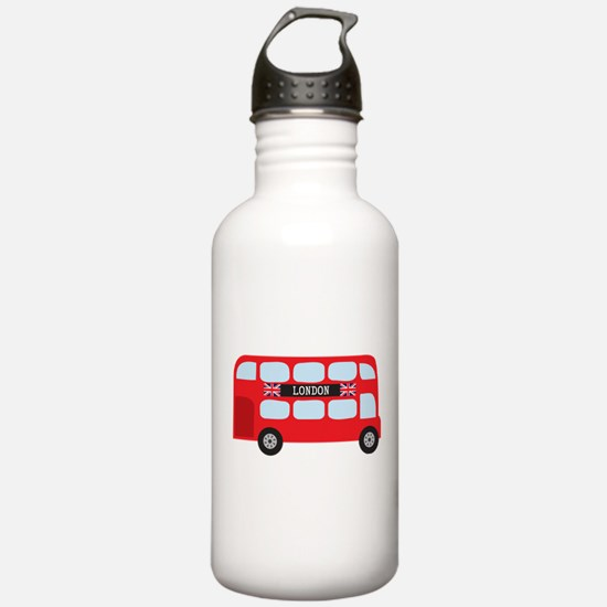 London Double-Decker Bus Water Bottle