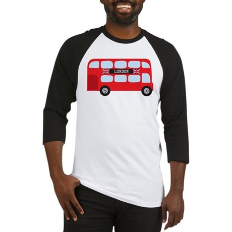 London Double-Decker Bus Baseball Jersey
