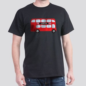 London Double-Decker Bus Dark T-Shirt