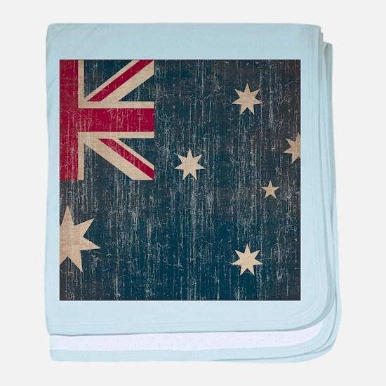 Vintage Australia Flag baby blanket