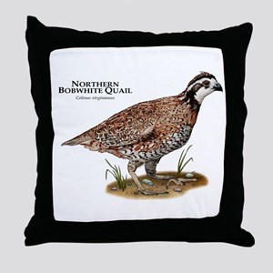 Northern Bobwhite Quail Throw Pillow