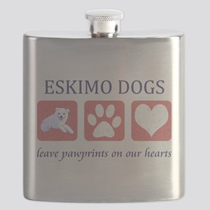 FIN-eskimo-dogs-pawprints Flask