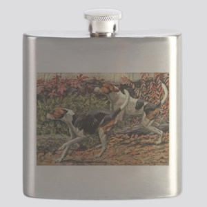 FIN-american-foxhound-portrait Flask