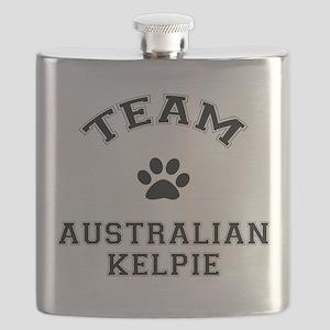 Team Australian Kelpie Flask