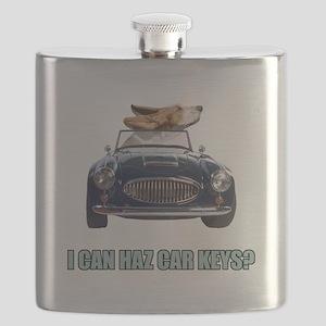 FIN-basset-hound-car-keys Flask